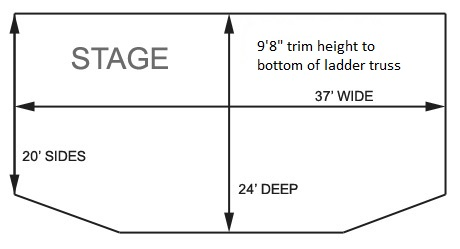 Grizzly Rose Stage Dimensions